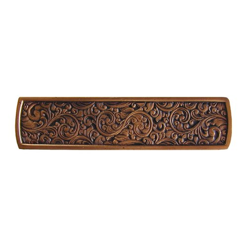 Notting Hill Classic 3 Inch Center to Center Antique Copper Cabinet Pull NHP-659-AC