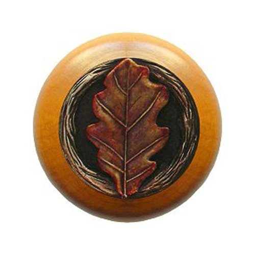 Notting Hill Leaves 1-1/2 Inch Diameter Brass Hand Tinted Cabinet Knob NHW-744M-BHT