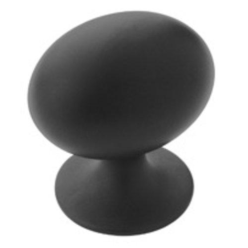 Amerock Allison Value Hardware 1-1/4 Inch Diameter Flat Black Cabinet Knob BP53018FB