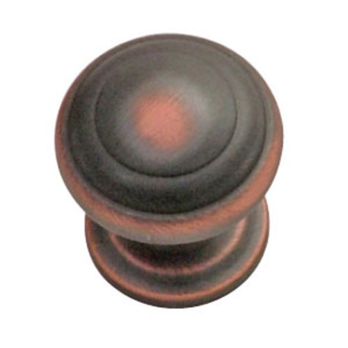 Hickory Hardware Zephyr 1 Inch Diameter Oil Rubbed Bronze Highlighted Cabinet Knob P2286-OBH