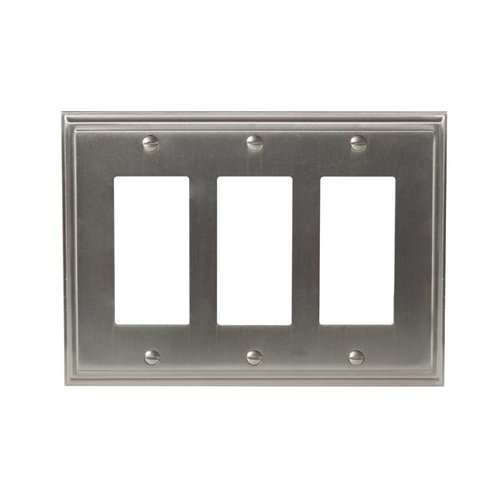 Amerock Mulholland Three Rocker Wall Plate Satin Nickel BP36520G10