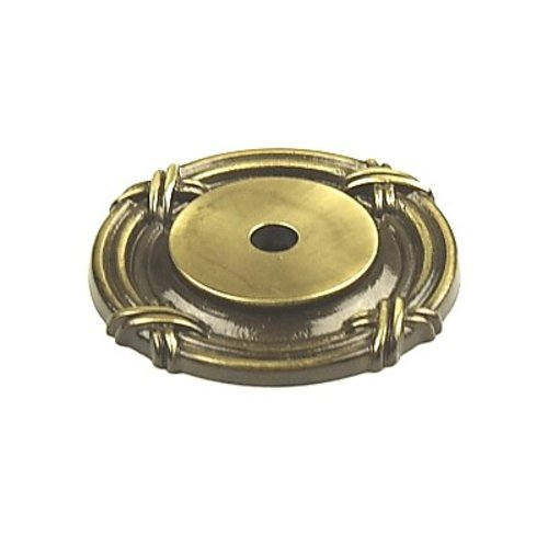 Century Hardware Georgian 1-1/2 Inch Diameter Polished Antique Back-plate 18069-PA