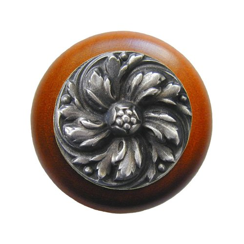 English Garden 1-1/2 Inch Diameter Antique Pewter Cabinet Knob <small>(#NHW-714C-AP)</small>