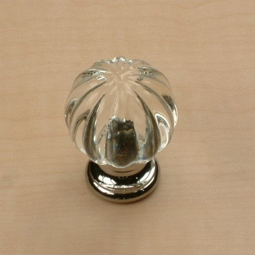 Tahoe 1-1/4 Inch Diameter Clear/Polished Chrome Cabinet Knob <small>(#18409-26C)</small>