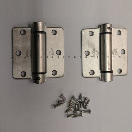 Bommer Industries LB4391-350 1/4 inch Radius Corner Single Act Spring Hinge - Stainless Steel LB4391C-350-630