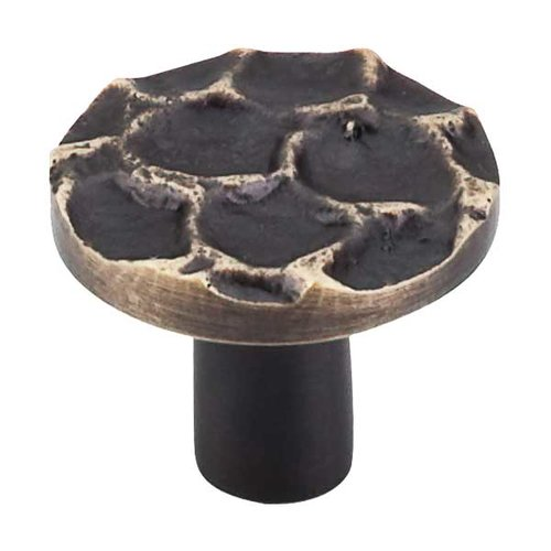 Top Knobs Cobblestone 1-3/8 Inch Diameter Brass Antique Cabinet Knob TK296BA
