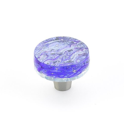 Schaub and Company Ice 1-1/2 Inch Diameter Blue Pearl Cabinet Knob 31-PBL