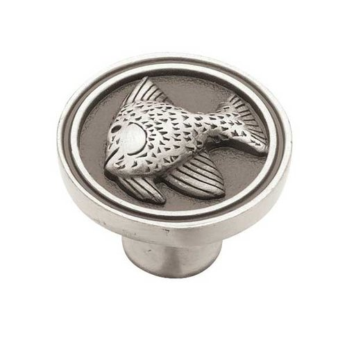Seaside Cottage 1-3/8 Inch Diameter Brushed Satin Pewter Cabinet Knob <small>(#PBF659-BSP-C)</small>