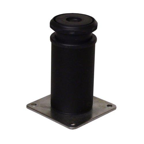Peter Meier Camar 10 inch Como Leg Plate Mount-Flat Black 552-25-19