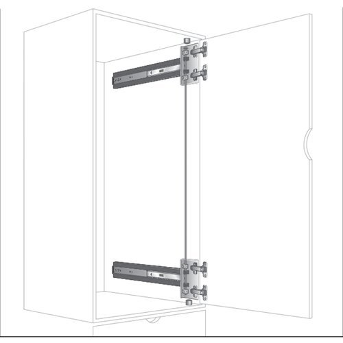 "Knape and Vogt KV 8092 4X4 Pocket Door Slide 26"" 8092P EB 26"