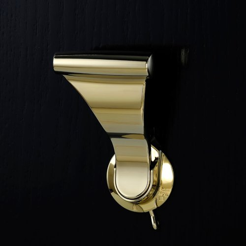 Soss UltraLatch for 2 inch Door with Privacy Latch Bright Brass L34P-3