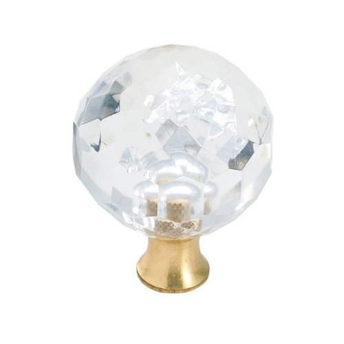 "Amerock Knob 1-3/8"" Dia Crystal BP732CS"
