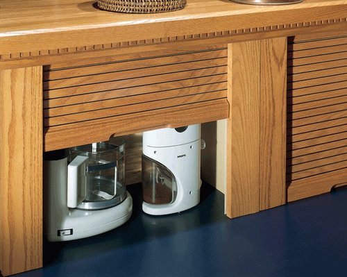 Omega National Products 24 inch Corner Appliance Garage - Hickory A0100HUF1