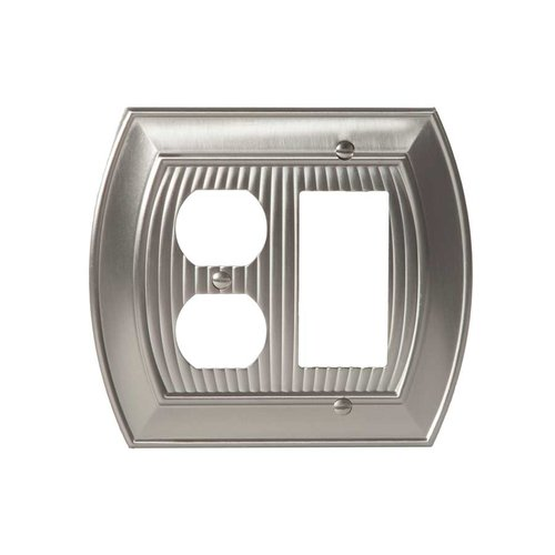 Allison One Rocker, 1 Receptacle Wall Plate Satin Nickel <small>(#BP36539G10)</small>