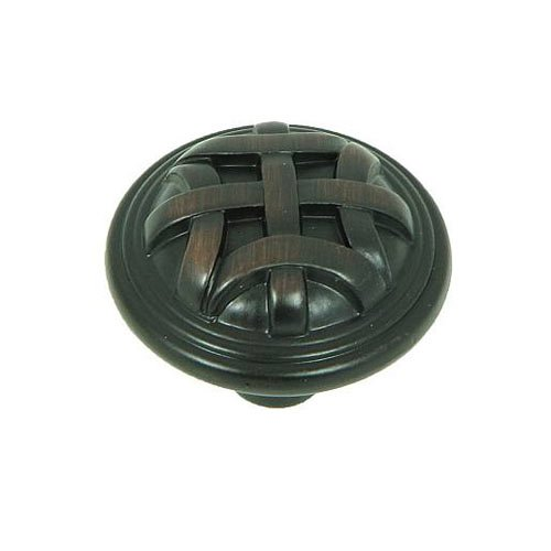 Stone Mill Hardware Sheffield 1-1/4 Inch Diameter Oil Rubbed Bronze Cabinet Knob CP82115-OB
