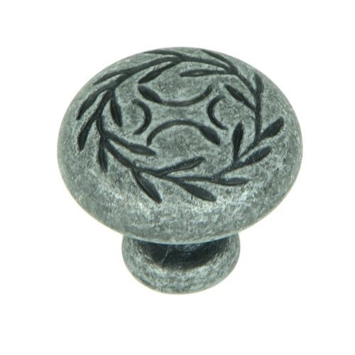 Meadow Brook 1-1/4 Inch Diameter Swedish Iron Cabinet Knob <small>(#CP3041-SI)</small>