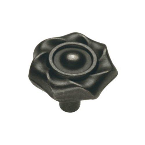 Hickory Hardware Charleston Blacksmith 1-1/4 Inch Diameter Black Iron Cabinet Knob PA1312-BI