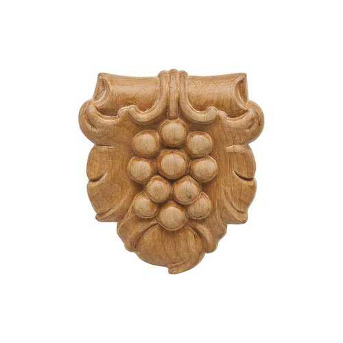 Hafele Bordeaux Carved Onlay 3-3/16 inch x 3-5/8 inch Cherry 194.78.664