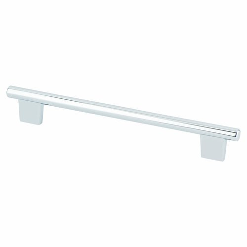 Berenson Euroline 7-9/16 Inch Center to Center Polished Chrome Cabinet Pull 2961-126-C