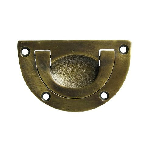 Gado Gado Bin Pulls 2-5/8 Inch Center to Center Unlacquered Antique Brass Recess Pull HBP7020
