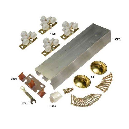 """Johnson Hardware 138F Series Bypass Track Set for 2 Doors 72"""" 138F722D"""