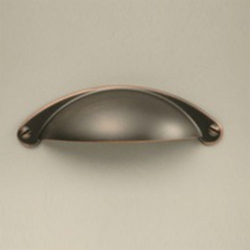 Century Hardware Glacier II 2-1/2 Inch Center to Center Antique Bronze/Copper Cabinet Cup Pull 22531-AZC