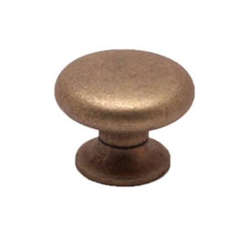Berenson Euro Retro 1-3/16 Inch Diameter Dull Antique Brass Cabinet Knob 2957-1DAB-C