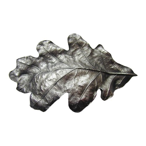 Notting Hill Leaves 3 Inch Center to Center Antique Pewter Cabinet Cup Pull NHBP-844-AP