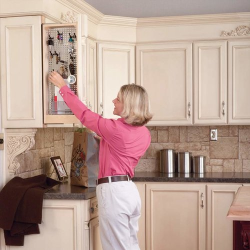 """Rev-A-Shelf 434 Wall Filler With Stainless Steel Panel 3"""" -Wood 434-WF-3SS"""