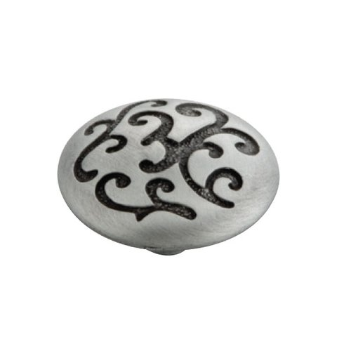 Hickory Hardware Mayfair 1-1/4 Inch Diameter Satin Pewter Antique Cabinet Knob P3091-SPA