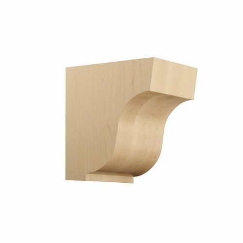 Brown Wood Large Simplicity Corbel Unifinished Hard Maple 01607004HM1