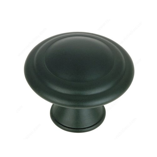 Richelieu Contemporary Classics 1-3/16 Inch Diameter Matte Black Cabinet Knob BP20630900