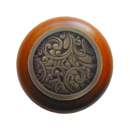 Notting Hill Classic 1-1/2 Inch Diameter Antique Brass Cabinet Knob NHW-759C-AB