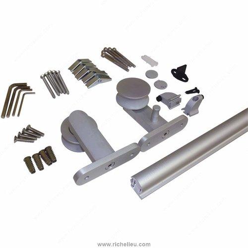 Richelieu Urban Aluminum Barn Door Hardware Set 2460202ALPVC