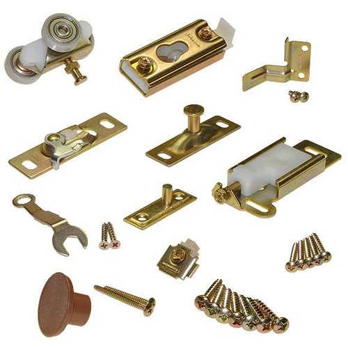 Johnson Hardware Series 100 Folding Door Hardware Set for 2 Doors 1031FD06