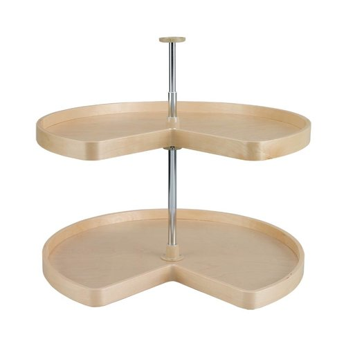"Rev-A-Shelf Kidney Shape Two Shelf Set 32"" Diameter - Wood LD-4BW-472-32-1"