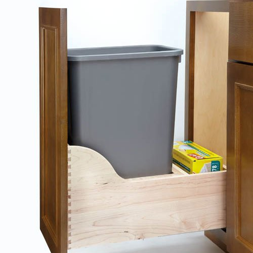 Rev-A-Shelf Soft-Close Single Trash Pullout 35 Quart 4WCSC-1535DM-1
