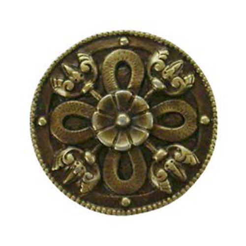 Notting Hill Jewel 1-1/8 Inch Diameter Antique Brass Cabinet Knob NHK-103-AB