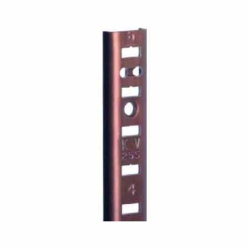 "Knape and Vogt KV #255 Aluminum Pilaster Strip Walnut 48"" 255AL WAL 48"