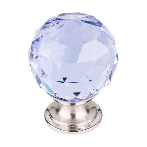 Top Knobs Crystal 1-3/8 Inch Diameter Light Blue Crystal Cabinet Knob TK114BSN