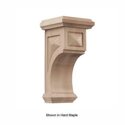 Brown Wood Pinnacle Medium Apex Corbel Unfinished Walnut 01607217WL1