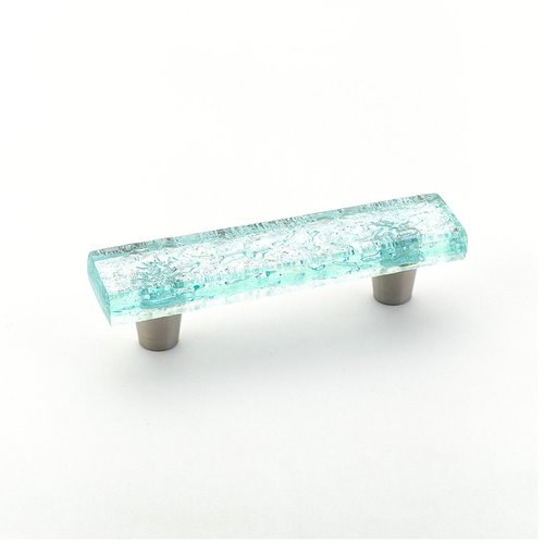 Schaub and Company Ice 3 Inch Center to Center Aqua Pearl Cabinet Pull 30-PAQ