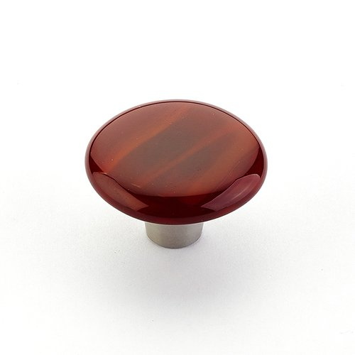 Schaub and Company Ice 1-1/2 Inch Diameter Scarlet Silk Cabinet Knob 31-SCS