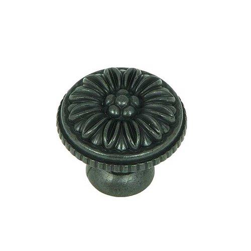 Stone Mill Hardware Cornell 1-3/8 Inch Diameter Antique Black Cabinet Knob CP82112-BA