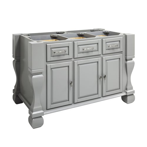 "Jeffrey Alexander 53"" Tuscan Kitchen Island w/o Top - Grey ISL01-GRY"