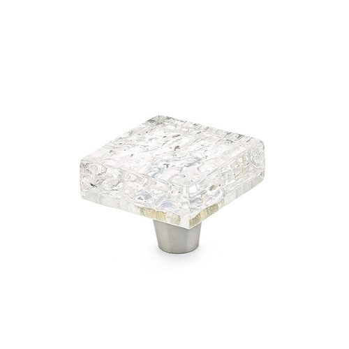 Schaub and Company Ice 1-1/2 Inch Diameter Clear Pearl Cabinet Knob 34-PCL