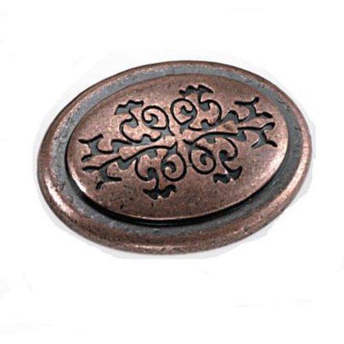 Laurey Hardware Cimarron 1-3/8 Inch Diameter Antique Copper Cabinet Knob 53107