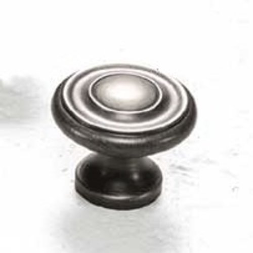 Schaub and Company Colonial 1-1/4 Inch Diameter Antique Nickel Cabinet Knob 703-AN