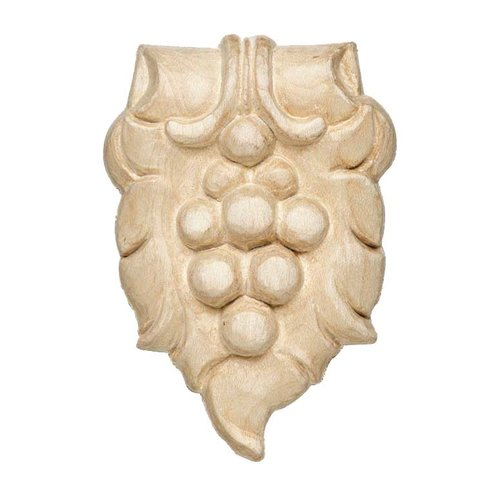 "Hafele Bordeaux Carved Onlay 2-5/16"" X 3-1/2"" Maple 194.78.163"
