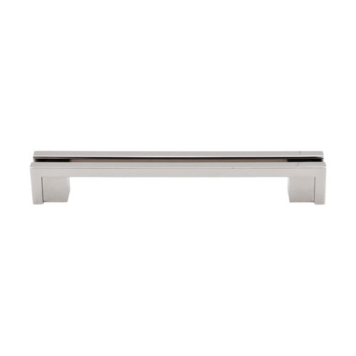 Top Knobs Sanctuary 5 Inch Center to Center Polished Nickel Cabinet Pull TK56PN